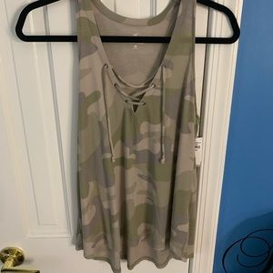 Brand new Hollister camo tank top